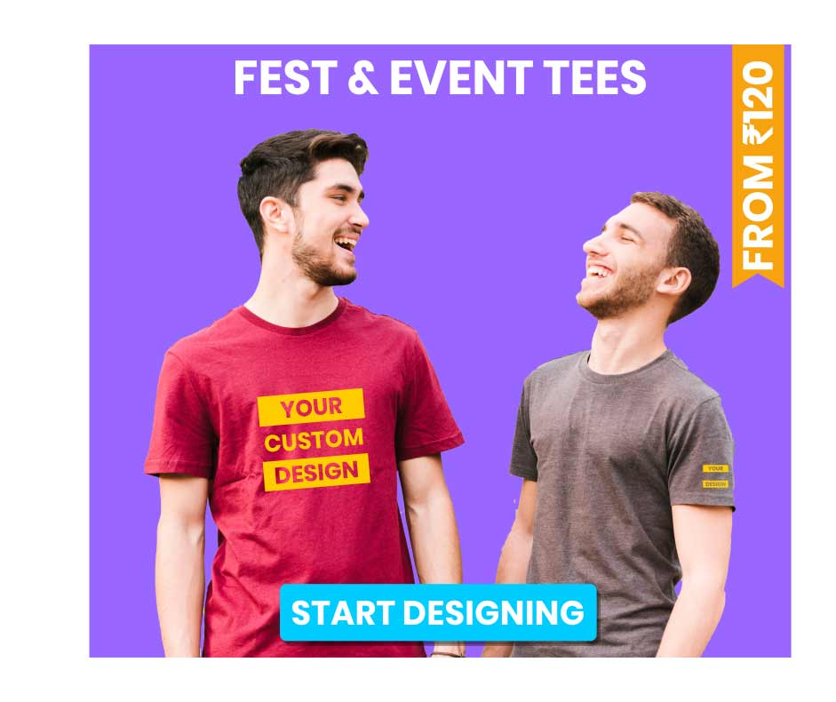 Event and Fest customized t-shirts
