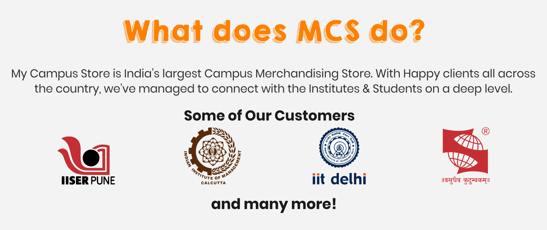 What does MCS do ?