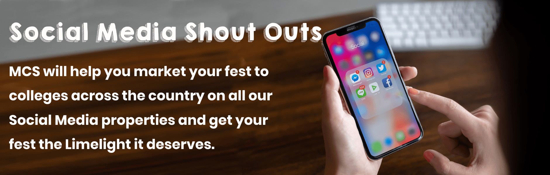 Social Media shout outs for your fest