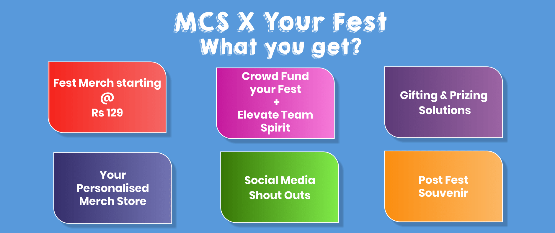 MCS X Your Fest - What you get?