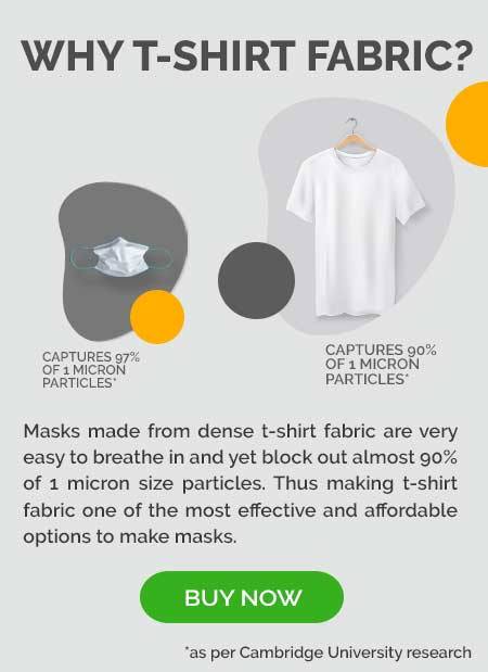 Why we use T-Shirts to make masks