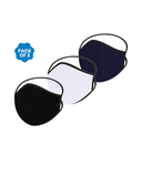 FACE PROTECTOR WITH LONG LOOP - BLACK, WHITE, NAVY COLOUR (Pack of 3)