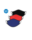 FACE PROTECTOR WITH EAR LOOP - BLACK , RED , ROYAL BLUE COLOUR (Pack of 3)