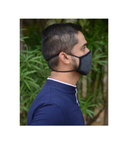 FACE PROTECTOR WITH LONG LOOP - CHARCOAL COLOUR (Pack of 3)