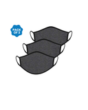 FACE PROTECTOR WITH EAR LOOP - CHARCOAL COLOUR (Pack of 3)