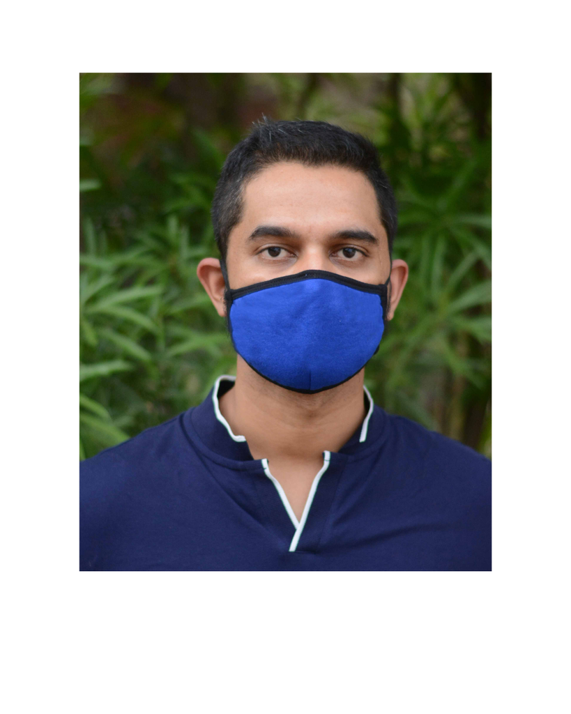 FACE PROTECTOR WITH LONG LOOP - ROYAL BLUE COLOUR (Pack of 3)