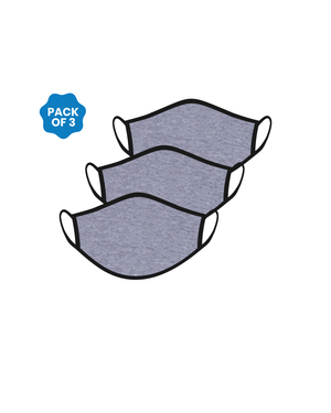 FACE PROTECTOR WITH EAR LOOP - HEATHER GREY COLOUR (Pack of 3)
