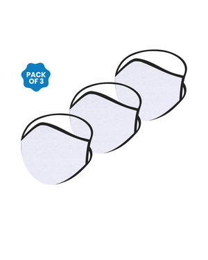 FACE PROTECTOR WITH LONG LOOP - WHITE COLOUR (Pack of 3)
