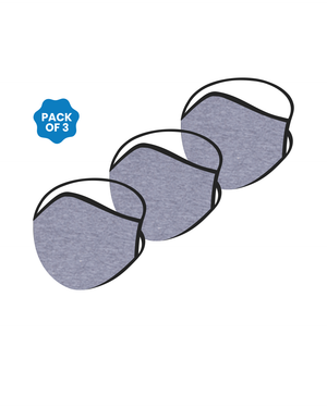 FACE PROTECTOR WITH LONG LOOP - HEATHER GREY COLOUR (Pack of 3)
