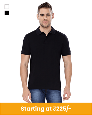 Premium Cotton Collar Neck T-Shirt for Customization