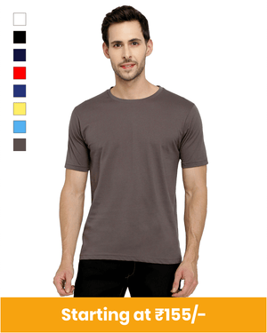 Premium Cotton Round Neck T-Shirt for Customization