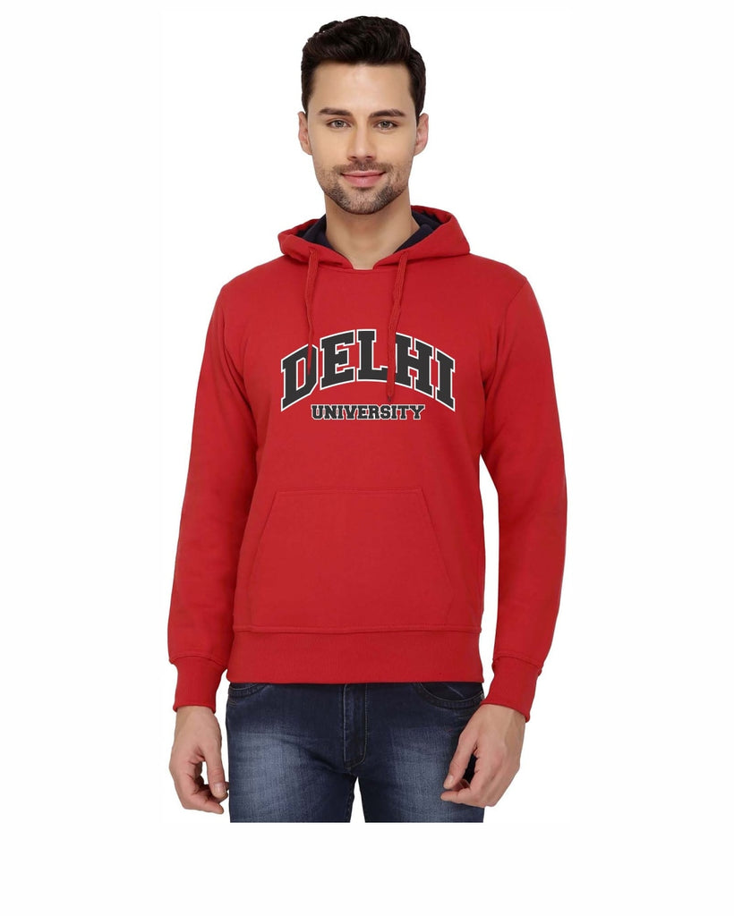 Delhi University Hooded Sweatshirt for Men