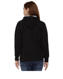 Delhi University Premium Classic Hoody for Women - Del U - Red and Orange Art