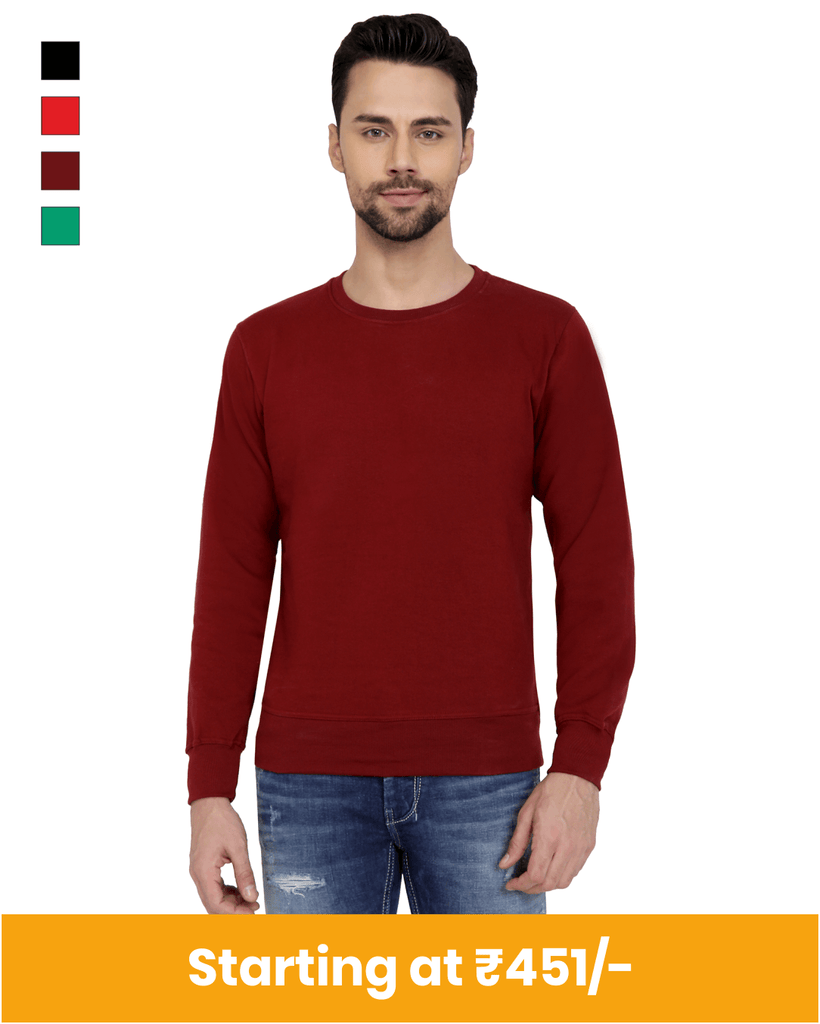 Premium round neck sweatshirts for customization