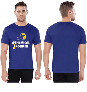 Chemical Engineer Round Neck Tees - Flask Design