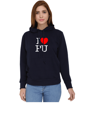 PU Sweatshirt with Hood