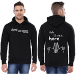 Punjabi University Classic Hoody for Men - Life Lives Here Design