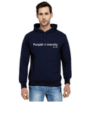 Punjabi University Classic Hoody for Men - Classic Design - White Art