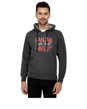 Panjab University Premium Classic Hoody for Men - Panjab University Est 1947 - Red and White Art