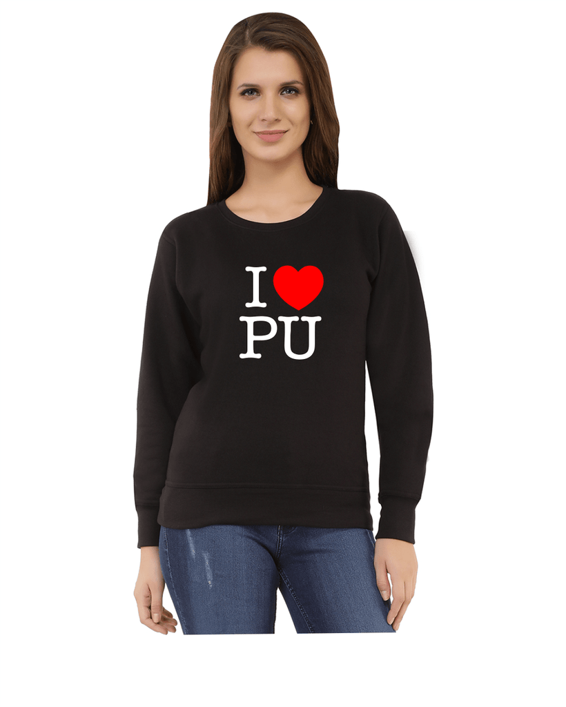 Panjab University Round Neck Sweatshirt for Women