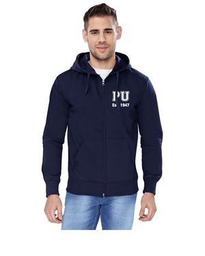 PU Zipper Sweatshirt