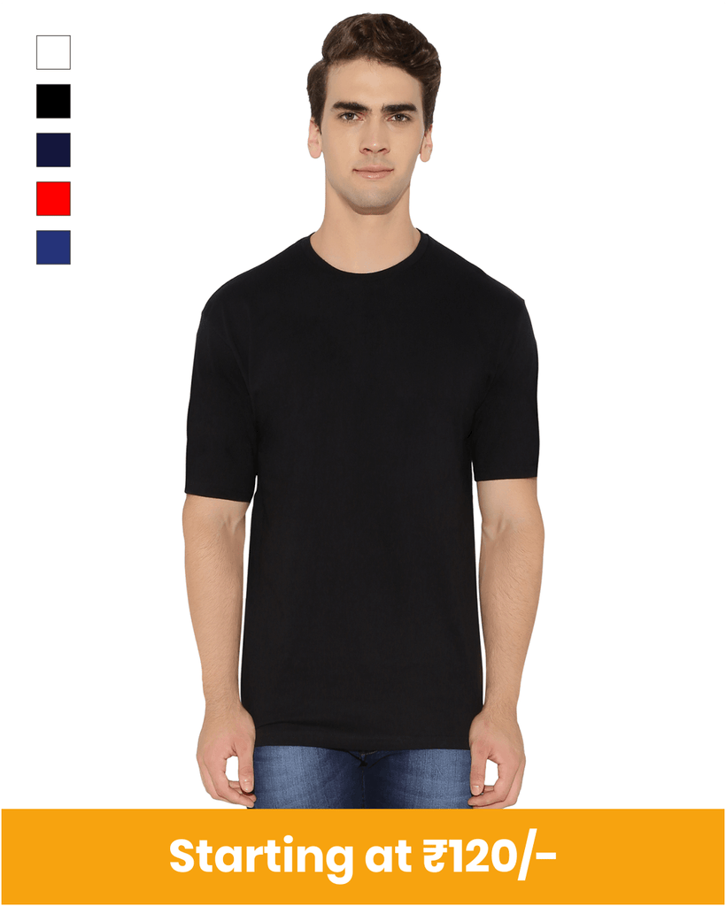 Round Neck Cotton T-Shirt for Customization