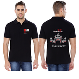 Banaras Hindu University (BHU) Collared T-shirt for Men - Life Lives Here Design