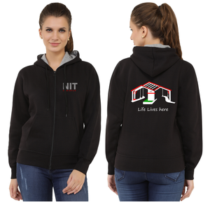 NIT Hamirpur Zipper Sweatshirt with Hood