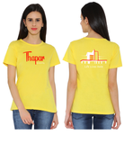 Thapar University Round Neck T-shirts for Women - Life Lives Here Design