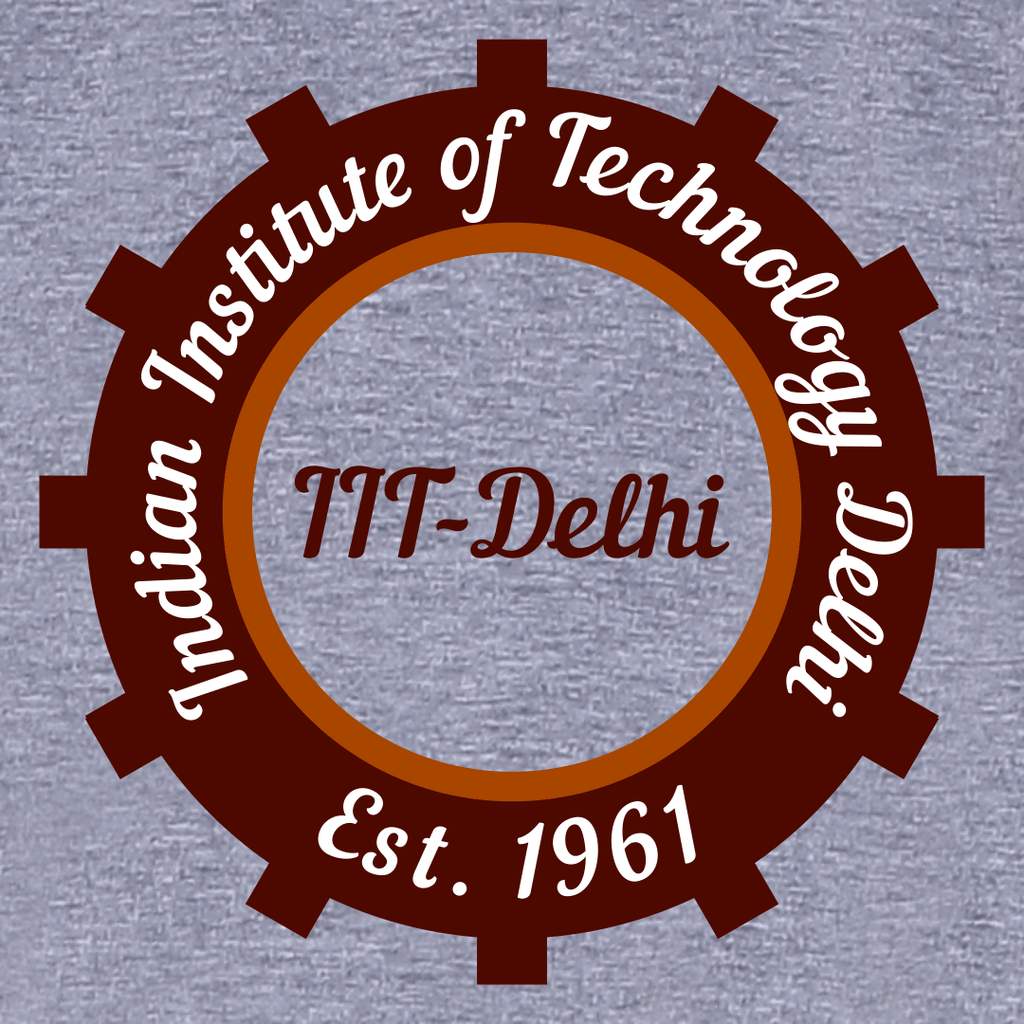 IIT Delhi Round Neck T-shirt for Women - Circle Design