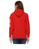 Punjabi University Zipper Hoody for Women - Left Sleeve Design