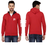 Punjab Agricultural University Zipper Hoody for Men - Left Sleeve Design