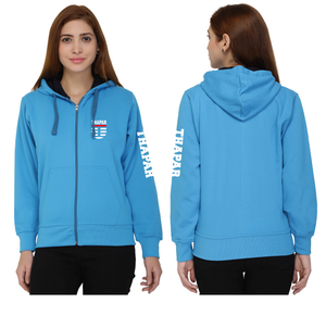 Thapar University Zipper Sweatshirt with Hood