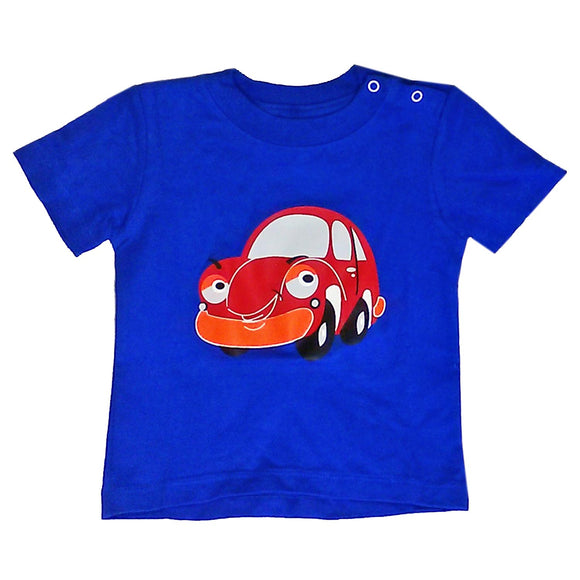 Baby T-Shirts Car Royal Blue