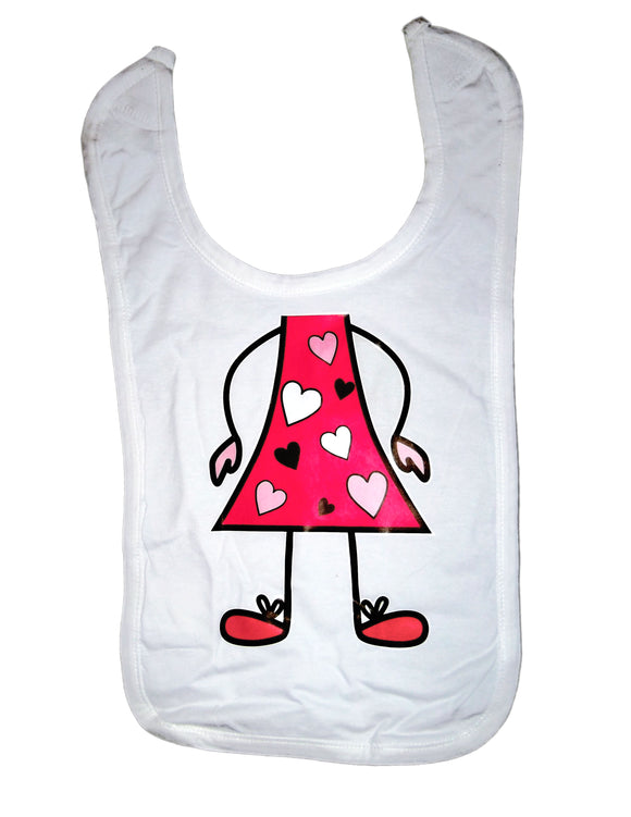 Baby Bibs Girl with Hearts