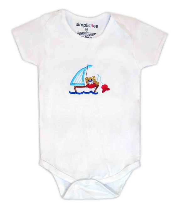 Baby Onesie Sailboat Bear