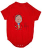 Baby Onesie Trouble Red