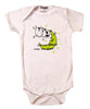 Baby Onesie Cow & Moon White