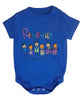 Baby Onesie Remember Royal Blue