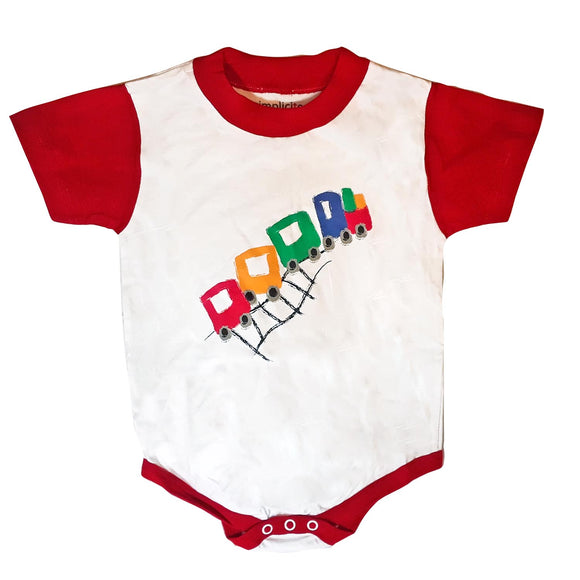 Baby Onesie Train Red