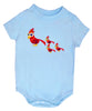 Baby Onesie Bird Light Blue