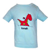 Baby T-Shirts Dragon Light Blue