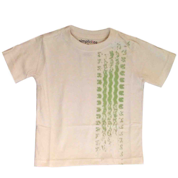 Baby T-Shirts Tire Tracks White