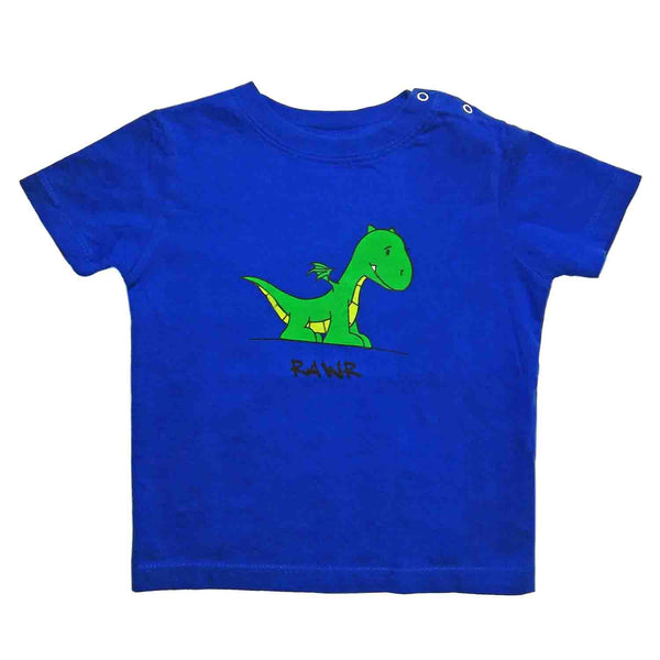Baby T-Shirts Dragon Royal Blue