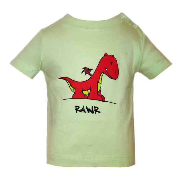 Baby T-Shirts Dragon Soft Green