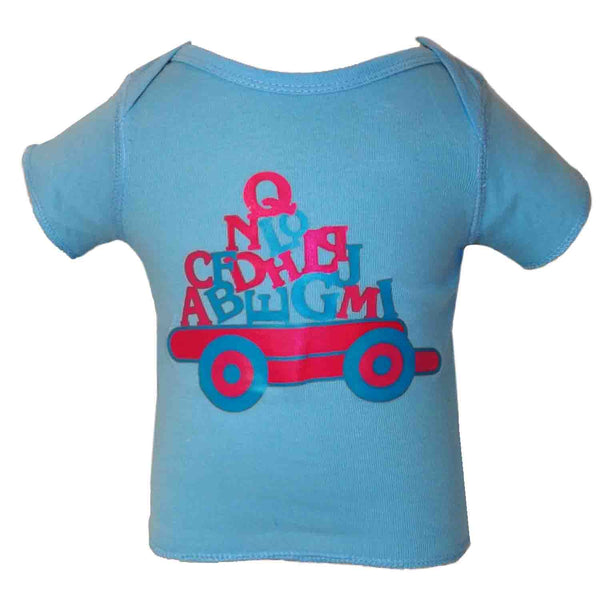 Baby T-Shirts Alphabet Light Blue