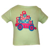 Baby T-Shirts Alphabet Soft Green