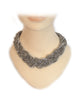 Beaded Woven Necklace & Drop Earrings