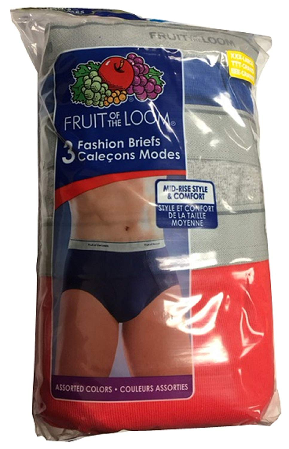 Fruit of the Loom Big Men 12-Pack Fashion Mid-Rise Brief