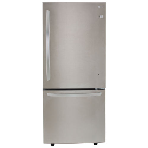 Refurbished LG 30-inch 22 cu. ft. Stainless Steel Bottom Freezer Refrigerator with Inverter Linear Compressor